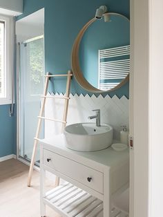 View the full picture gallery of Casa Babette Laundry In Bathroom, Bathroom Inspo, Small Bathroom, Washroom, Attic House, House By The Sea, Wooden Projects, Home Staging, Interior Design Inspiration