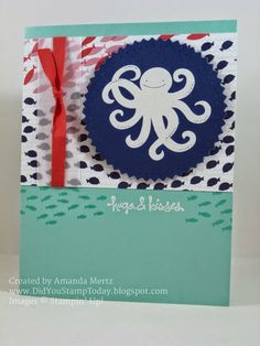 Did You Stamp Today?: Stampin' Up! Sea Street Hugs & Kisses - Fab Friday 60  Uses: Sea Street, Good Greetings, Maritime DSP, Starburst framelits