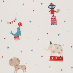 Transforming children's bedrooms and nurseries, Bambino is playful collection of colourful designs bringing personality and fun to any room. Let your child's imagination run wild with this circus themed wallpaper. Modern Wallpaper Designs, Designer Wallpaper, Wallpaper Ideas, Galerie Wallpaper, Leroy Merlin, Pattern Wallpaper, Textured Background, Playroom, Paper Art