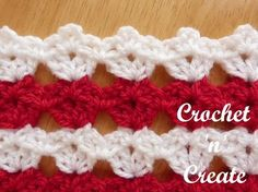 Free written tutorial for all over shell stitch. #crochet