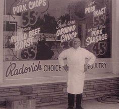 Radovich Butcher Shop, Los Angeles, CA 1960s