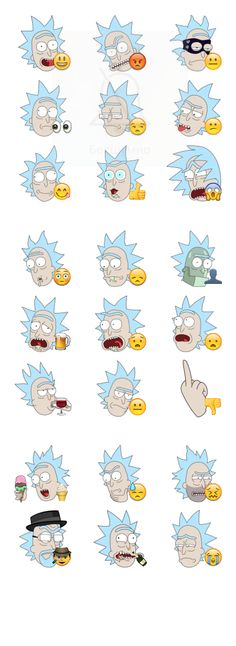 Rick Sanchez (Rick and Morty) stickers for Telegram https://telegram.me/addstickers/rmrick