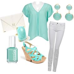 too much of the same color for one outfit but i like the top and pants combo