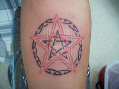 pentagram tattoo on pinterest pagan tattoo witchcraft tattoos and wiccan tattoos. Black Bedroom Furniture Sets. Home Design Ideas