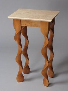 Cherry Taffy End Table with Birdseye Maple Top: David Hurwitz: Wood Side Table…