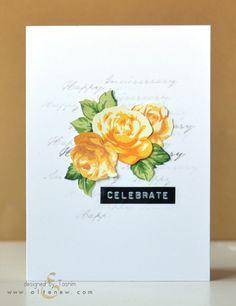 Looking in depth at the Vintage Roses stamp set