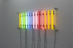 """The early """"Futurum"""" inspiration came from an artist friend: Josefine Lyche: Misplaced Concreteness (Spectrum V), Neon, glass, 74×173 cm, 2009"""