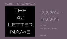 "Robert Kirschbaum's ""The 42-Letter Name"" is now on view at MAG. A meditation upon divinity, creation and faith. #exhibition"