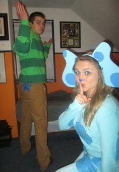 Blues Clues couple Halloween costume!