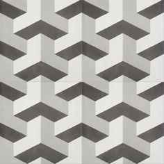Geometric Black and white floor pattern
