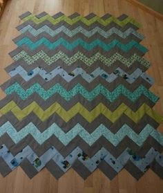 My next demin quilt pattern. Zig Zag pattern without piecing triangles