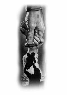 Baby Tattoo For Dads, Mom Dad Tattoos, Father Daughter Tattoos, Father Tattoos, Tattoo For Son, Family Tattoos, Hd Tattoos, Chicano Tattoos, Dope Tattoos