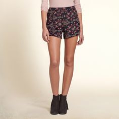 Girls Easy Neoprene Shorts | supersoft neoprene adds comfort to your style, finished with edgy zipper details | HollisterCo.com
