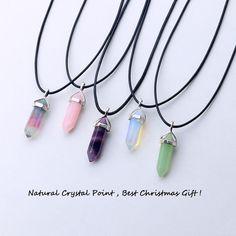24 projeto opala natural verde aventurina cristal de quartzo pingente de couro preto hexagon pingente chrysocolla colar gargantilha jóias