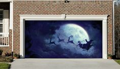 Christmas Garage Door Covers Banners Outside House Decorations Billboard Santa Claus Decor for Garage Door GD23