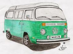 vw van coloring page volkswagen bus printable coloring. Black Bedroom Furniture Sets. Home Design Ideas