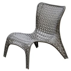 Superieur Garden Treasures Tucker Bend Gray Woven Seat Steel Patio Dining Chair