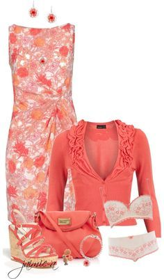 """""""Pretty In Peach"""" by jaimie-a on Polyvore"""