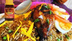Surinaams eten – Nasi Moksie Speciaal (nasi met speciaal geroosterde kip)