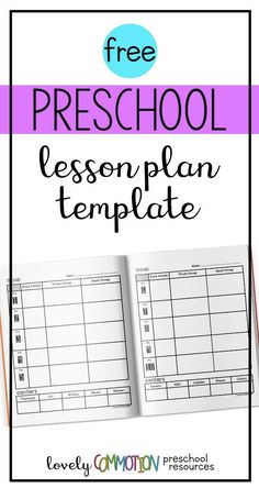 Need an easy (and free) lesson plan template for your preschool or pre-k lesson planning? I've got you covered! Grab this free template from Lovely Commotion! Pre K Lesson Plans, Lesson Plans For Toddlers, Teacher Lesson Plans, Kindergarten Lesson Plans, Preschool Lessons, Preschool Worksheets, Preschool Learning, Educational Activities, Learning Activities