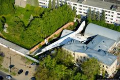 "Abandoned Supersonic TU-144 in a Russian backyard (so it says in ""Odd Stuff Magazine""....can it be true??)"