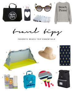 Travel tips and packing lists