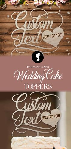 Custom Cake Topper, Rustic Wedding Cake Topper, Bride and Groom Wedding Cake Topper, Personalized Wedding Cake Topper Rustic Wedding Cake Toppers, Personalized Wedding Cake Toppers, Wedding Cakes, Art File, Baltic Birch, Natural Materials, Laser Engraving, Groom, Characters