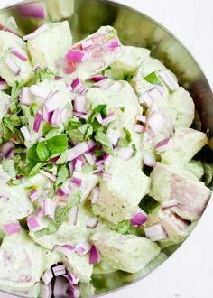 Potato Salad with Creamy Pesto Dressing