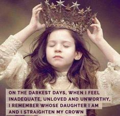 AMEN!!!!!!! ♥️ #ParentingDaughters Crown Quotes, My Heart, Happy Thoughts, Inspirational Quotes, Sayings, Words, Straightener, Make Me Smile, Kids Bedroom