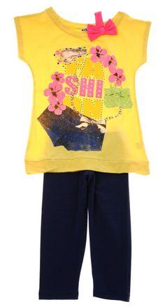 Εβίτα παιδικό σετ μπλούζα-παντελόνι κολάν «Pink Flowers» - Παιδικά ρούχα edc505bdc95