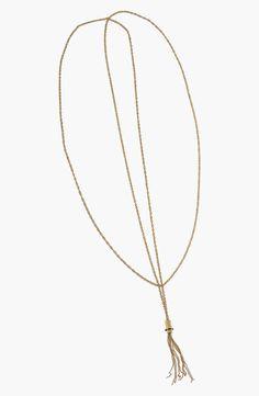 Rachel Zoe 'Nicola' Tassel Pendant Long Necklace