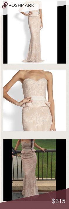 Beautiful elegant dress Originally $900! Huge price drop! Has not been Altered worn once! Marchesa Dresses Strapless
