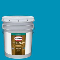 Glidden Premium 5 gal. #nfl-170B Carolina Panthers Blue Semi-Gloss Exterior Paint
