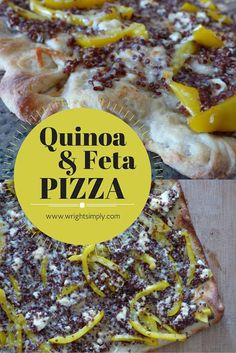 Quinoa & Feta Pizza Greek Inspired Pizza! So good, healthy eaters will love it!