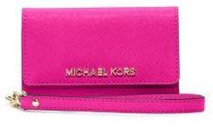 MICHAEL Michael Kors Saffiano Leather Phone Wristlet for iPhone 5 on shopstyle.com
