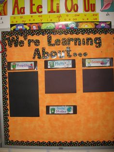 I like the idea of doing a focus wall for vocab words in each subject this way... =)