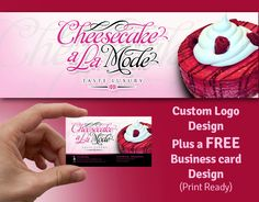 Cake business logo design with a FREE business card by Signtific