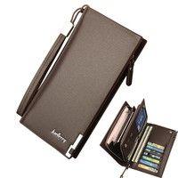d7edca3105d6 Leather Bifold Long Wallet ID Card Holder Purse Checkbook Clutch Billfold  Сумки Клатчи, Мужские Вещи