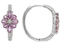 Exotic Jewelry Bazaar(Tm) 2.95ctw Purple Ceylon Sapphire And .17ctw Zi
