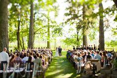 Salem wedding photography Oregon Portland. Wedding ceremony.    Love all the green! So beautiful.