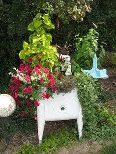 Old Washing Machine - What a Planter!