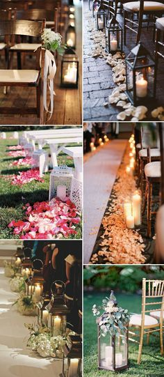 lanterns and candles inspired creative wedding aisle ideas