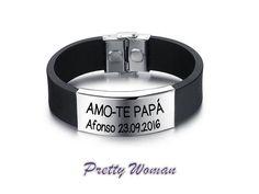 Bracelete Amo-te papá como nome e data 14€ + portes Comprimento:220mm Largura:14mm