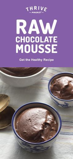 Smooth, creamy, and insanely delicious, this raw chocolate mousse pleases all palettes! Get the full exclusive recipe at Thrive Market! Discover hundreds more easy, delicious one-of-a-kind recipes found only at Thrive Market! Also, save on organic, non-GMO ingredients, all up to 50% off every day!