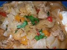 Lucicoş-Lucskos Káposzta-Ciorba de varza din Ardeal-Cabbage with meat hungarian soup - Romanian Food, Food Stations, Hungarian Recipes, Cabbage Soup, Food Videos, Lunch, Chicken, Meat, Dinner