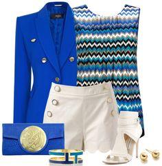 Dareen Hakim - Le Icon - sapphire - blue and white