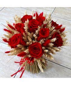 Buchet trandafiri rosii si spice Birthday Wishes Sms, Christmas Wreaths, Holiday Decor, Home Decor, Manualidades, Tattoo, Embroidery, Decoration Home, Room Decor