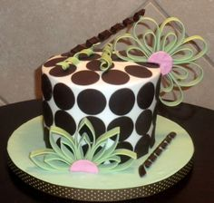 dots & quill birthday cake