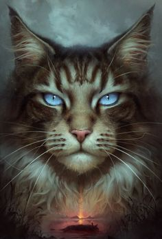 Hawkfrost by silesti on DeviantArt Warrior Cats Series, Warrior Cats Fan Art, Warrior Cats Books, Warrior Cat Drawings, Cute Cats And Kittens, I Love Cats, Cool Cats, Pretty Cats, Beautiful Cats