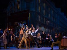 An American In Paris opened Sunday, April 12 at the Palace Theatre. The original Broadway musical is set in 1945 in Paris, at the end of World War II. Metro Theatre, Theater, Bruce Willis, Broadway Costumes, An American In Paris, Aristocats, Paris Shows, Show Photos, Modern Family